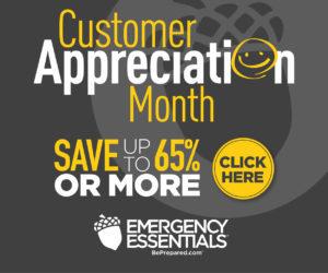 Emergency Essentials Customer Appreciation